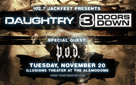 102.7 Jackfest Presents Daughtry/3 Doors Down