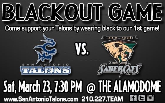 San Antonio Talons vs. San Jose Sabercats