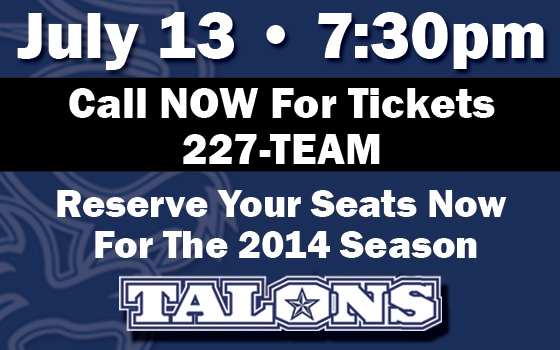 San Antonio Talons vs. Tampa Bay Storm
