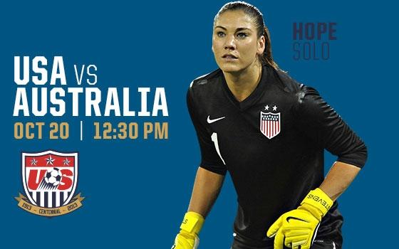 U.S. Soccer vs. Australia